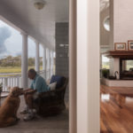 The porches expand the living spaces
